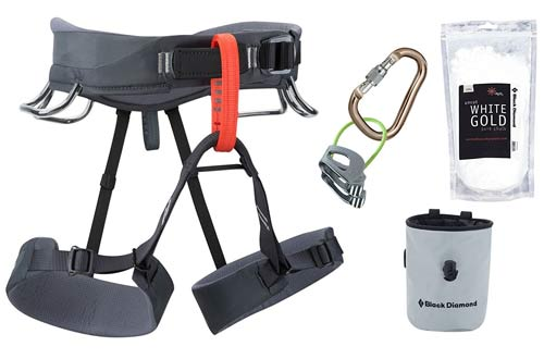 Black Diamond White Momentum Harness Package