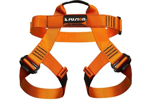 Fusion Orange Climb Half Body Harness for Climbing Gym & Rope Course