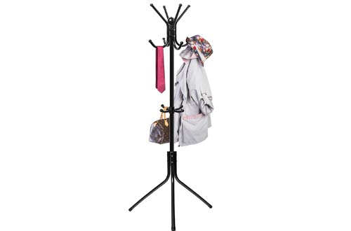 Den Haven Standing Coat Rack Hat Hanger Holder Hooks