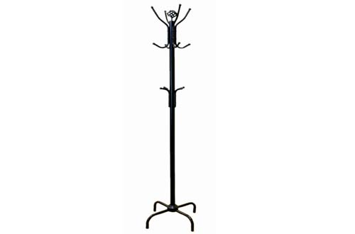 Black Metal Coat Jacket Purse Rack