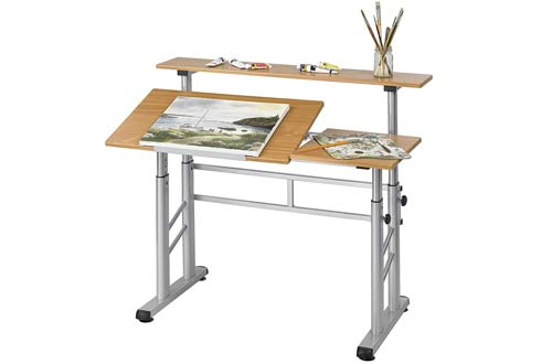 Safco Products 3965MO Split Level Height-Adjustable Drafting Table
