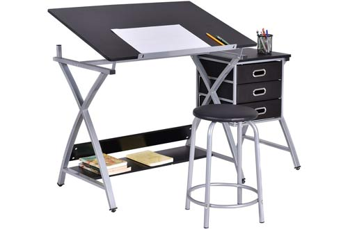 Tangkula Folding Adjustable Drafting Table Art & Drawing Desk