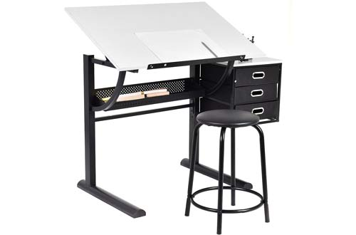 Tangkula Drafting Table Art & Craft Drawing Desk Art