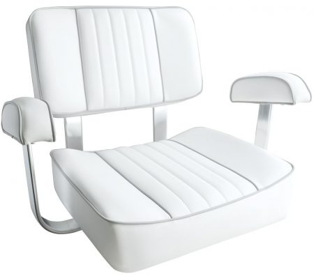 Leader Accessories White Captain's Seat Boat Seat