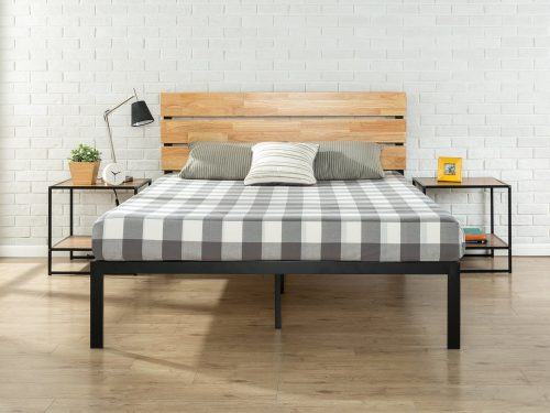 Metal & Wood Platform Bed