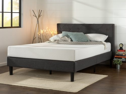 Platform Bed with Wooden Slat