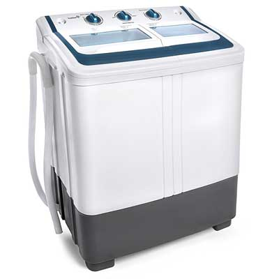 3. Ivation Small The Compact Portable Washing Machine - The Twin Tub Washer & Spin