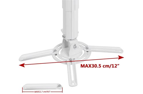 Suptek White Universal Projector Ceiling Mount