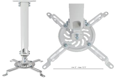 VIVO Universal Extending White Projector Ceiling Mount