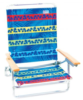 Rio Brands 5 Position Classic Lay Flat Beach Chair