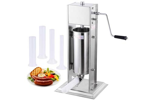 Two Speed Commercial Stainless Steel Vertical Meat Sausage Stuffer Tank
