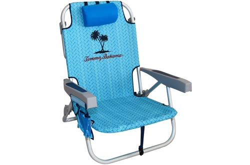 Tommy Bahama Backpack Beach Chairs/ Light Blue