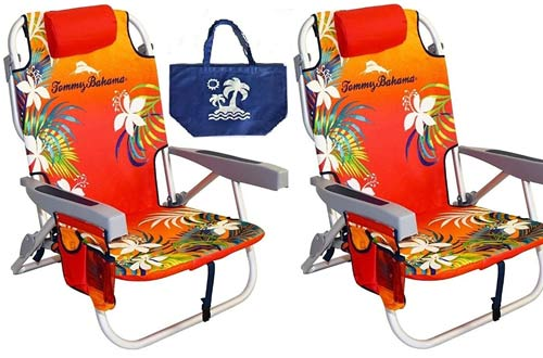 Tommy Bahama Backpack Beach Chairs/ Red