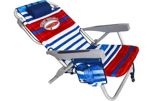 Tommy Bahama Backpack Beach Chairs/ Red White Blue Stripes