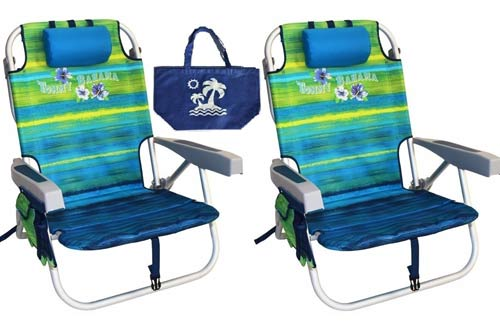Green Tommy Bahama Backpack Beach Chairs