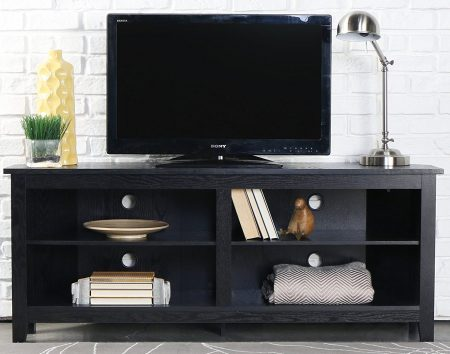 "WE Furniture 58"" Wood Corner TV Stand"