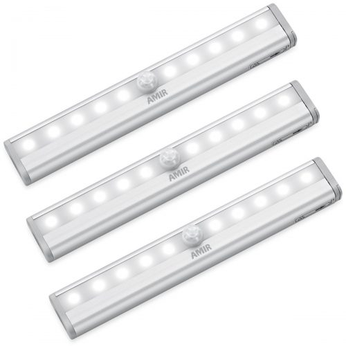 10 Led Motion Sensing Closet Lights Activated Light