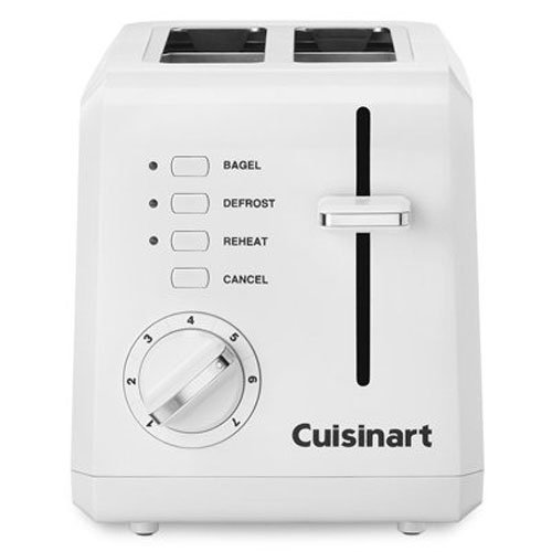 122 2-Slice Compact Plastic Toaster