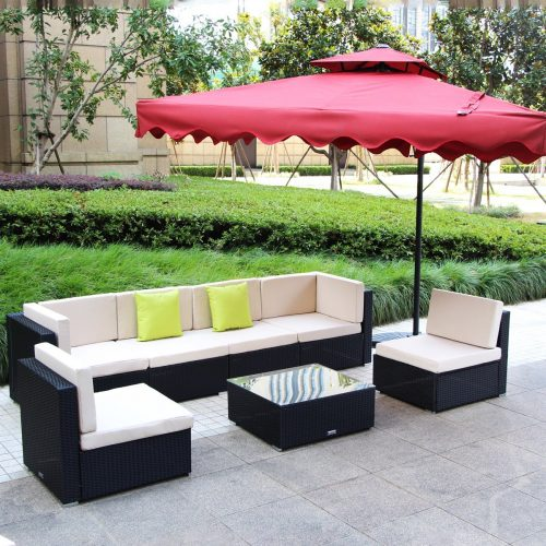 7-12 Pieces Patio PE Rattan Wicker Sofa
