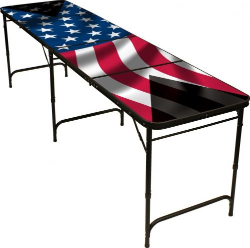 American Flag 8' Beer Pong Table