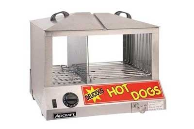 4 Ad craft Countertop Stainless Steel Hot Dog Steamer