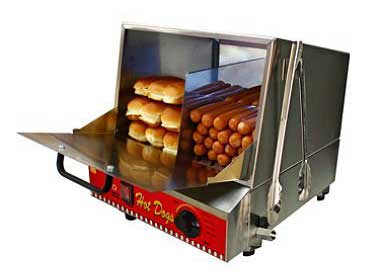 6 Paragon Classic Hot Dog Hut Steamers