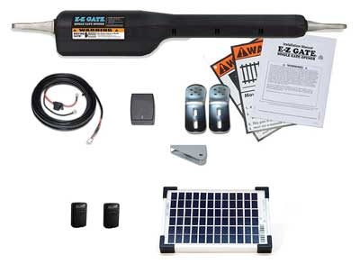 8 Mighty Mule EZGO-SOLAR Gate Openers Solar Kit