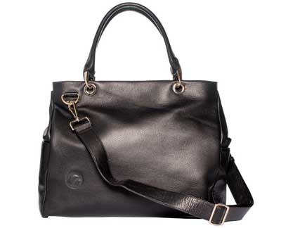 9. Oemi Leather Diaper Bag
