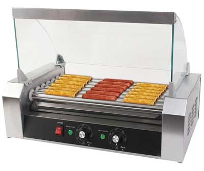 1 Safe plus Electric Hot-dog Grill Commercial Hotdog Maker
