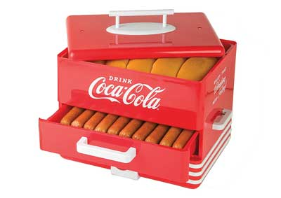 8 Nostalgia HDS248COKE Extra Large Coca-Cola Hot Dog Steamer