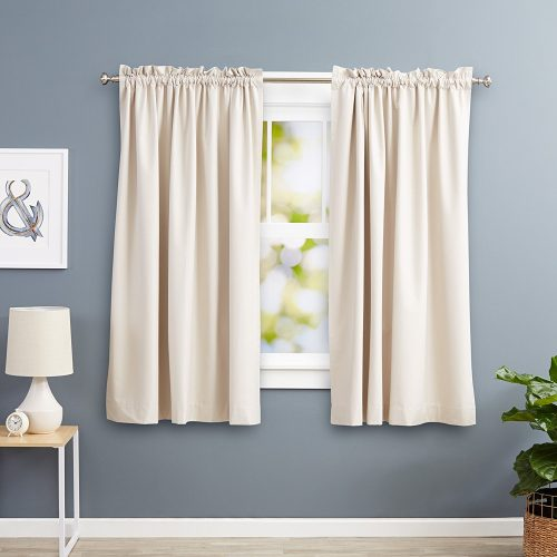Blackout Curtain Set-Tiebacks Window Curtains Set