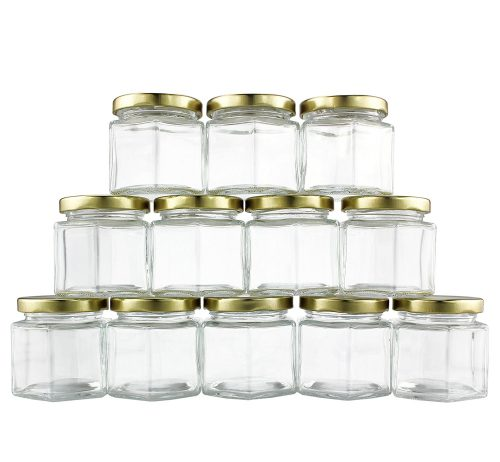 Brands Hexagon Glass Jars-Hexagon Glass Jars