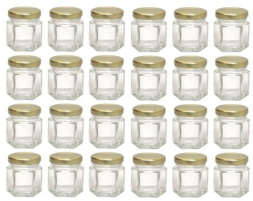 Mini Hex Jars 1.5 Oz