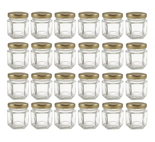 Mini Hexagon Glass Jars