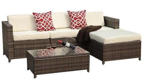 Outdoor PE Wicker Rattan Sectional Furniture