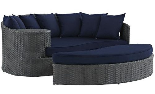 Outdoor Patio Rattan Daybed
