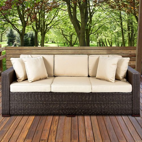 Outdoor Wicker Patio Furniture Sofa