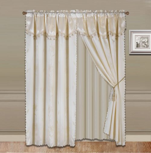 Rod Pocket Window Curtain Set