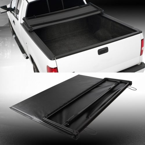 Truck Cargo Bed Tonneau Cover Black