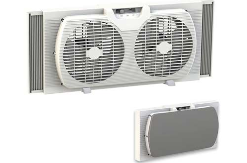 Dual Blade 9-Inch Twin Window Fan