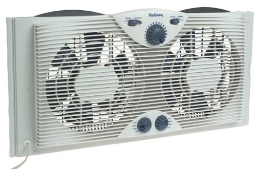 Holmes Twin Window Fan with Comfort Control Thermostat