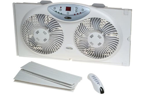 Bionaire Twin Reversible Window Fan With Remote Control