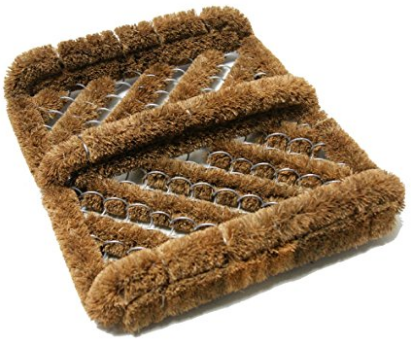 "Rubber-Cal ""Herringbone"" Coir Boot Scraper Brush"