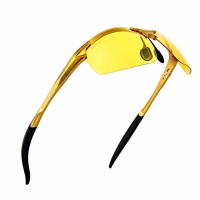 Lazarap HD Polarized Night Driving Glasses, Men