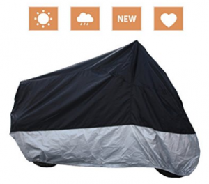 RockyMRanger Breathable Motorcycle Cover Cruisers Touring Bikes Storage