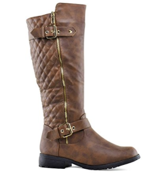 10. Forever Link Women's Mango Zipper Accent Riding Boots