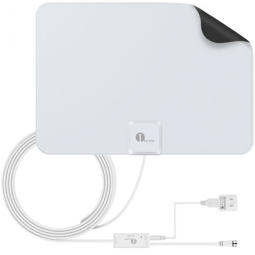 1byone 50 Miles Amplified HDTV Antenna -Indoor TV Antennas