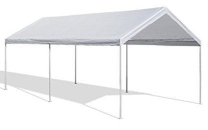 Caravan Canopy 10 X 20-Feet Domain Carport, White