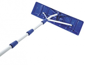 Snow Joe RJ204M 21' Twist-n-Lock Telescoping Snow Shovel Roof Rake