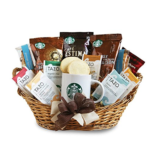 4. California Delicious Starbucks Daybreak Gourmet Coffee Basket